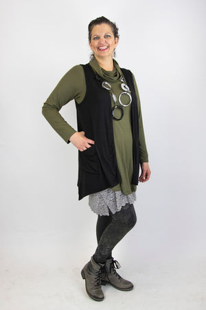 Twist Vest with Pockets