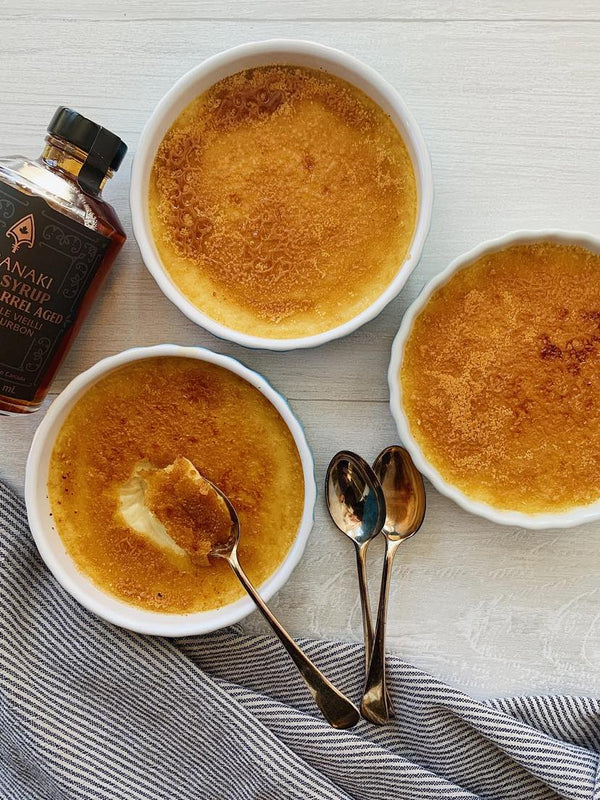 Wabanaki Maple syrup used in a Maple Creme Brulee