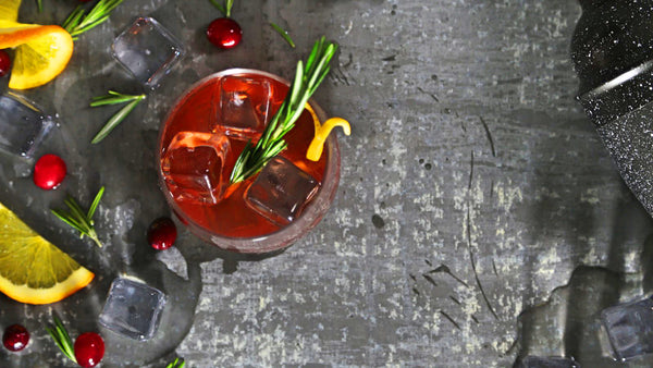 Cranbberry burbon cocktail