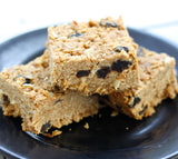 Breakfast Bars with cinnamon peanut butter