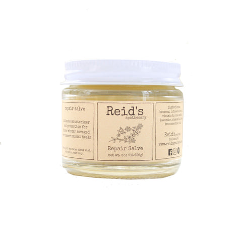 skin repair salve in 2 ounce jar