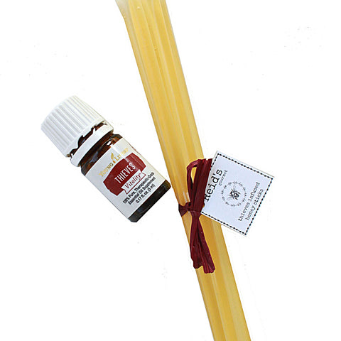 honey stick infused with young living thieves essential oil