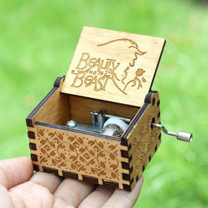 Beauty and The Beast Wooden Music Box