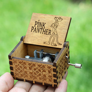 Pink Panther Wooden Music Box