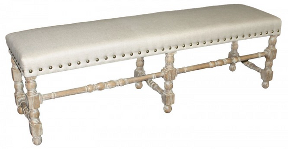 Linen bench with Nail Trim