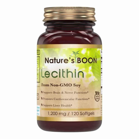 Nature's Boon Lecithin 1200 Mg 120 Softgels