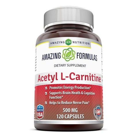 Amazing Formulas Acetyl L Carnitine 500 Mg 120 Capsules