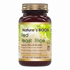 Nature's Boon Red Yeast Rice 600 Mg 60 Veggie Capsules