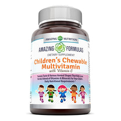 Amazing Formulas  Children's Chewable Multivitamin with Vitamin C  Vitamin A 1,250 IU - 120 Tablets