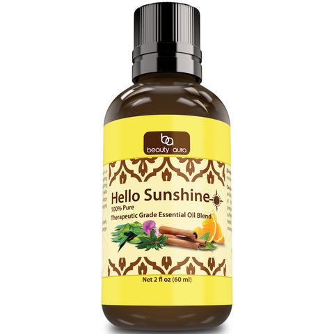 Beauty Aura Hello Sunshine Essential Oil (2 Oz.)