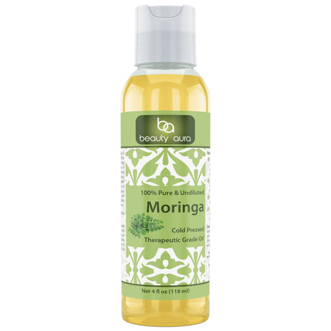 Beauty Aura Moringa Oil 4 Fl Oz