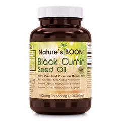 Natures Boon Black Cumin Seed Oil 1000 Mg Per Serving 100 Softgels