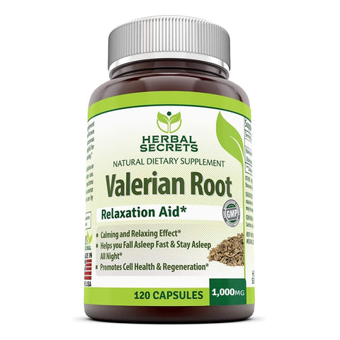 Herbal Secrets Valerian Root 1000mg 120 softgels