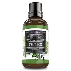 Amazing Aroma Thyme Essential Oil -2 floz 60ml - Aromatherapy Soothing 100% Pure, Undiluted Therapeutic Grade Oil