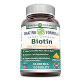 Amazing Formulas Biotin 10000 Mg 120 Tablets Citrus Flavor