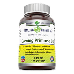 Amazing Formulas Evening Primrose Oil Dietary Supplement  1300 Mg 120 Softgel