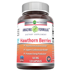Amazing Formulas Hawthorn Berries 565 Mg 120 Capsules