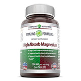 Amazing Formulas High Absorb Magnesium 200 Mg 240 Tablets
