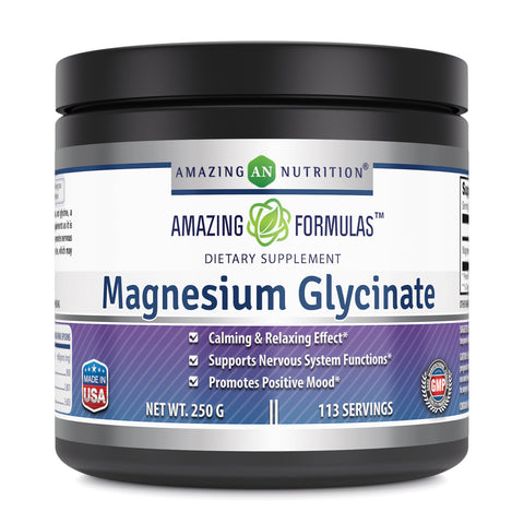 Amazing Formulas Magnesium Glycinate 250 Gram 113 Servings