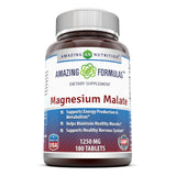 Amazing Formulas Magnesium Malate 1250 Mg 180 Tablets