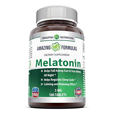 Amazing Formulas Melatonin 5 Mg 180 Tablets