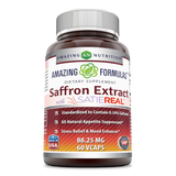 Amazing Formulas Saffron Extract With SATIEREAL 88.25 Mg 60 Veggie Capsules