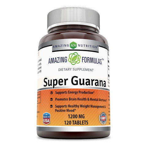 Amazing Formulas Super Guarana 1200 Mg 120 Tablets