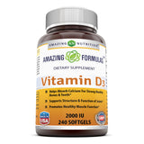 Amazing Formulas Vitamin D3 2000 IU 240 Softgels