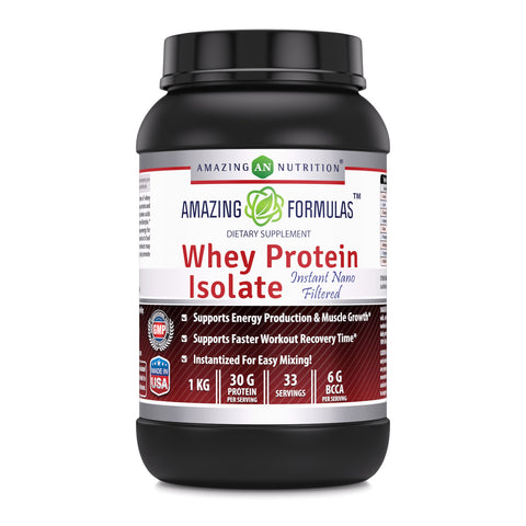 Amazing Formulas Whey Protein Isolate Powder 2 Lbs