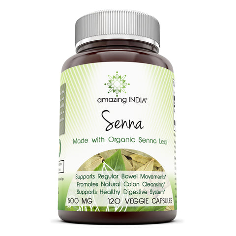 Amazing India Senna 500 Mg 120 Vegetarian Capsules