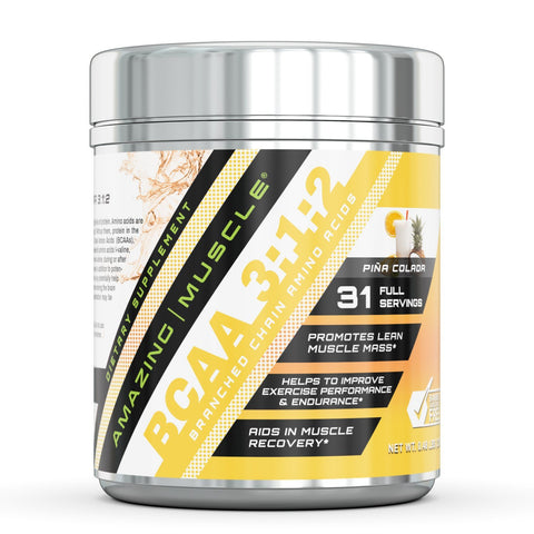 Amazing Muscle BCAA 3:1:2 With Natural Flavor & Sweetners 31 Serving Pina Coloda