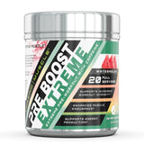 Amazing Muscle Pre Boost Extreme Pre Workout with Caffeine 20 Servings Blue Raspberry Flavor
