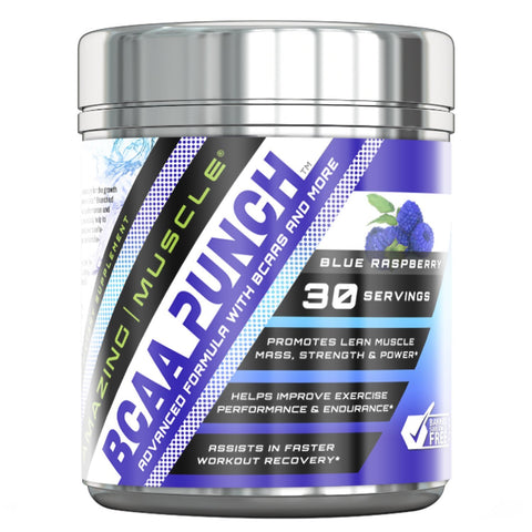 Amazing Muscle BCAA PUNCH 30 Servings Blue Raspberry