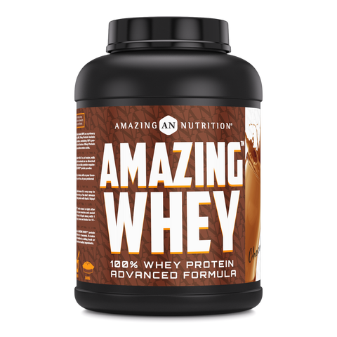 Amazing Whey Whey Protein (Isolate & Concentrate) 5 Lb Chocolate Flavor