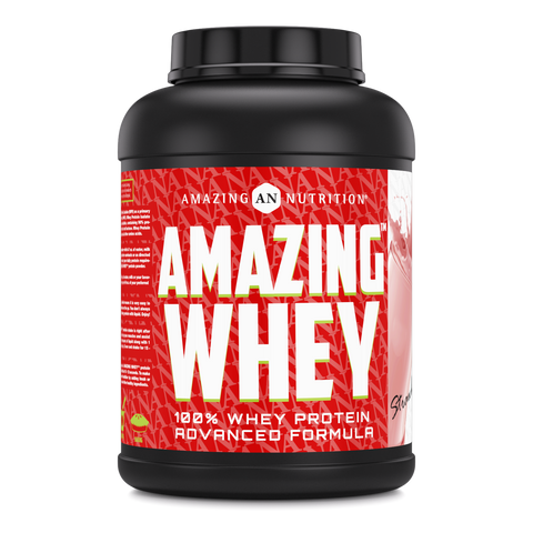 Amazing Whey Whey Protein (Isolate & Concentrate) - 5 Lb, Strawberry Flavor
