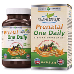 Amazing Naturals PRENATAL ONE DAILY Multivitamin 180 Tablets
