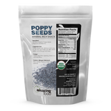 Amazing Food Organic Blue Poppy Seeds 5 Lb