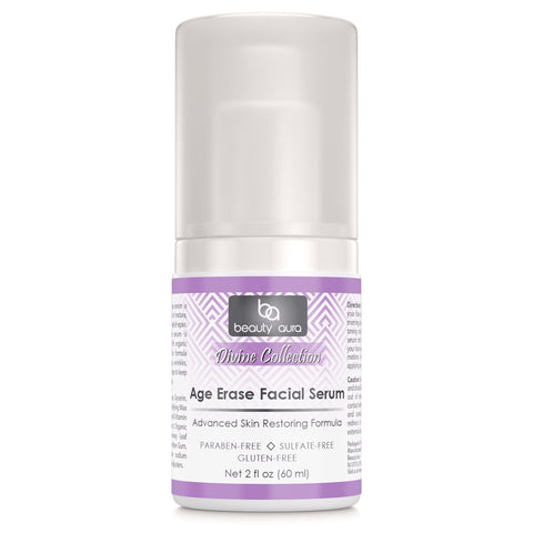 Beauty Aura Age Erase Facial Serum 2 Fl Oz 60 Ml