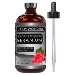 Body Wonders Geranium Essential Oil 4 Oz 118 Ml