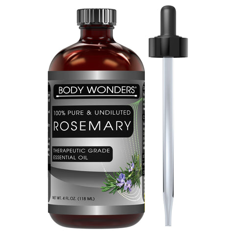Body Wonders 100% Pure Rosemary Essential Oil 4 Fl Oz (118 Ml)