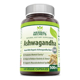 Herbal Secrets Organic Ashwagandha 500 Mg 120 Veggie Capsules