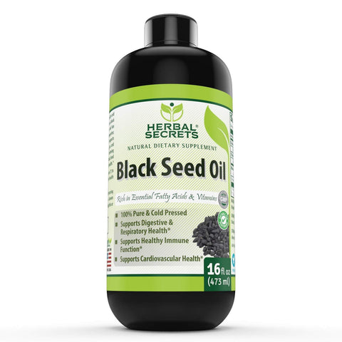 Herbal Secrets Black Seed Oil 16 Fl Oz 473 Ml - herbalsecrets