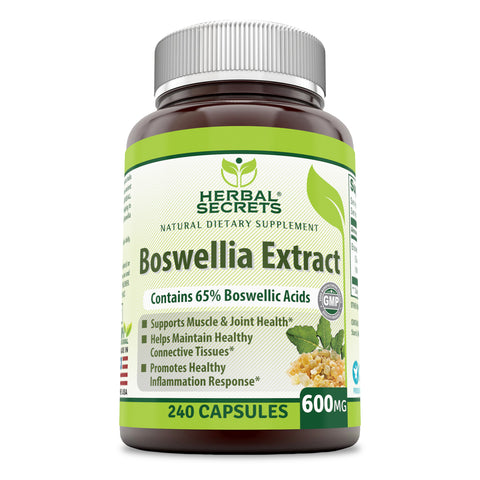 Herbal Secrets Boswellia Extract 600 Mg 240 Capsules