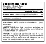 Herbal Secrets Organic Maca 750 Mg 120 Tablets - herbalsecrets