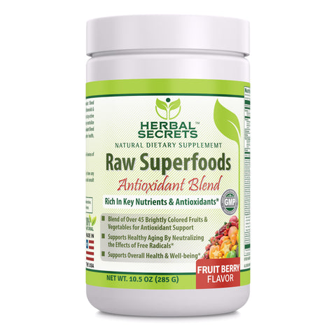 Herbal Secrets Raw Superfoods Antioxidant Blend Fruit Berry Flavor 10.5 Oz