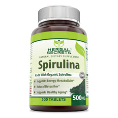 Herbal Secrets Spirulina 500 Mg 500 Tablets