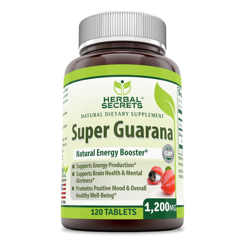 Herbal Secrets Super Guarana 1200 Mg 120 Tablets