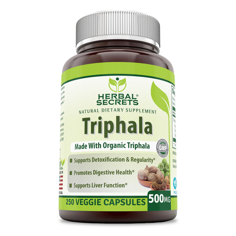 Herbal Secrets Triphala 500 Mg 250 Veggie Capsules
