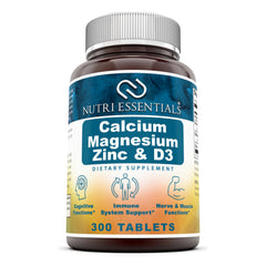 Nutri Essentials Calcium Magnesium Zinc & Vitamin D3 300 Tablets