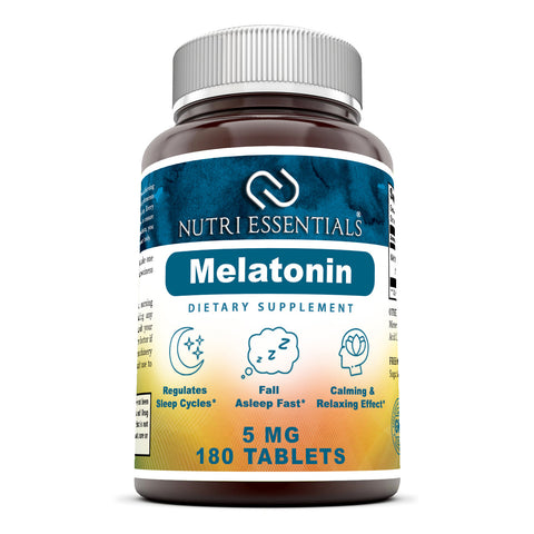 Nutri Essentials Melatonin 5 Mg 180 Tablets